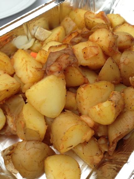 potato wedges op de bbq