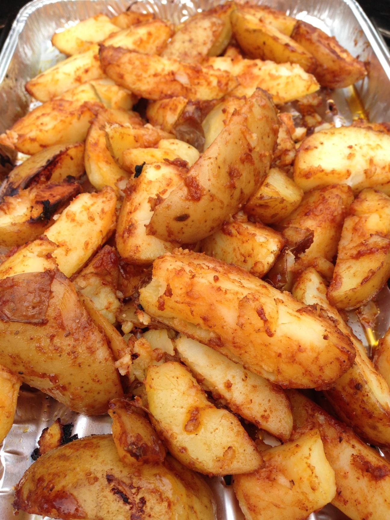 potato wedges op de bbq 4