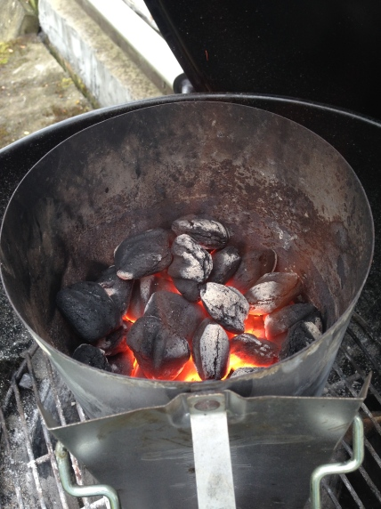 Na 20 minuten zijn de kolen bijna klaar