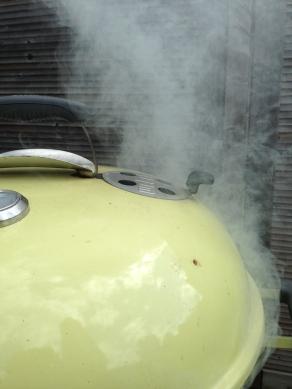 Rook de kip voor een half uur