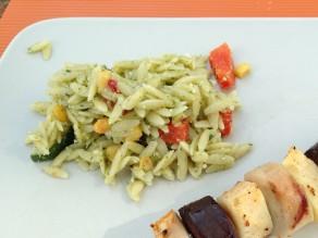 Griekse Pasta-Pesto Salade