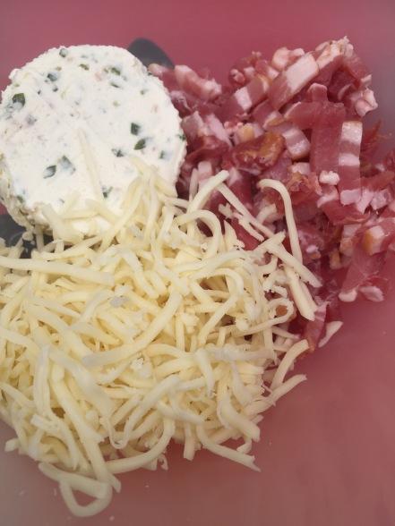 GEVULDE CHAMPIGNONS MET BOURSIN EN SPEK op de BBQ ingredienten