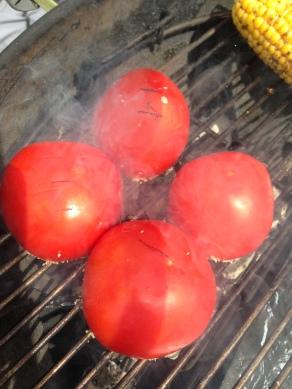Gegrilde tomaten, grill eerst de holle zijde