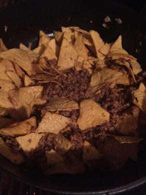 Meng er de tacochips doorheen